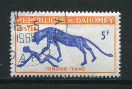 DAHOMEY- Taxe Y&T N°34- Oblitéré - Bénin – Dahomey (1960-...)