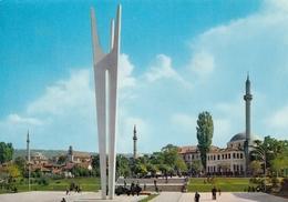 Kosovo Pristina - WWII Monument , Mosque 1968 - Kosovo