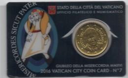 2016 VATICANO - PONTIFICATO PAPA FRANCESCO - ANNO IV - COIN CARD N.7 - GIUBILEO DELLA MISERICORDIA - Vatican