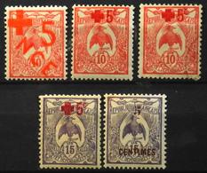 Nouvelle-Calédonie > 1910-1939 > 1915 N° 110 à 113 Y & T - NEUFS*/O - Nouvelle-Calédonie