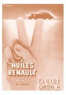 L'Automobile Et La Publicité Au Début Du Siècle - 2 Huile RENAULT D'hiver - Affiche De Pierre Fix-Masseau - Passenger Cars