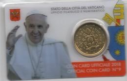 2018 VATICANO - PONTIFICATO PAPA FRANCESCO - ANNO VI - COIN CARD N.9  - 50 CENT. CON STEMMA PAPALE - Vatican