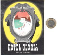 ETIQUETA DE HOTEL  - HOTEL GLORIA  -RIO DE JANEIRO  -BRASIL - Hotel Labels