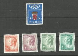 Luxembourg N°777 à 781 Neufs** Cote 3.20 Euros - Unused Stamps