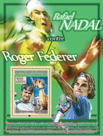 Guinea  2008   Lawn  Tennis  ,Rafael Nadal And Roger Federer - Guinee (1958-...)