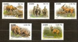 Zaire 1994 OCBnr. 1452-56 *** MNH  Cote 9 Euro Faune - 1990-96: Neufs