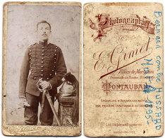 CDV - Bernard Combre - Militaria - Hussard (10°)mort En 1895 - Photo E. Gimet - Montauban  (112705) - Identified Persons