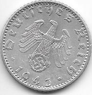 Germany  50 Pfennig 1943 A  Km 96  Vf - [ 4] 1933-1945 : Troisième Reich