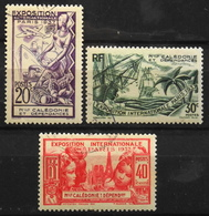 Nouvelle-Calédonie > 1910-1939 > 1937 N° 166-167-168 Y & T - NEUFS*/O - New Caledonia