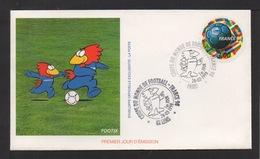 Enveloppe 1er Jour. 2 Cachets: 62 Lens Et Paris. Coupe Du Monde De Football .France.1998 . - FDC