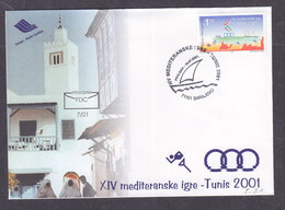 Bosnia And Herzegovina 2001 Mediterrian Games In Tunis FDC - Bosnia Erzegovina
