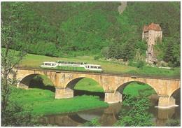 Dépt 43 - LAVOÛTE-SUR-LOIRE - Autorail Panoramique X 4208 Au Château Lavoûte-Polignac Entre Le Puy Et St-Étienne (train) - Autres Communes