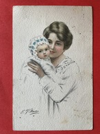 1920 - Illustrateur VILLANI - MAMAN ET BEBE - MOEDER MET BABY - Illustrateurs & Photographes
