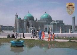 Afghanistan ISAF Forces Feldpost Postcard Blue Mosque Mazari Sharif - Afghanistan