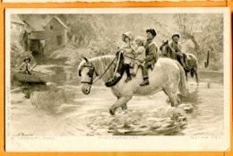 FR652, Belle Fantaisie, Illustrateur P. Tarrant, PINX, Enfants Sur Un Cheval, Photogravure, Circulée 1907 - Cavalli
