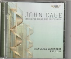 Cd  JOHN CAGE  Music For Piano And Percussion    Etat: TTB Port 110 GR - Classique
