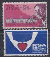 Afrique Du Sud N° 320 / 21  O 1ère Transplantation Cardiaque   Les 2 Vals Oblitérations Moyenne Et Faible Sinon TB - Afrique Du Sud (1961-...)