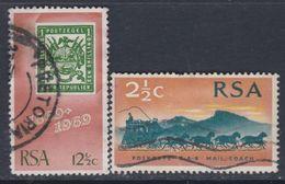Afrique Du Sud N° 322 / 23  O 100ème Ann. Du 1er Timbre Sud-africain  Les 2 Vals Oblitérations Moyennes Sinon TB - Oblitérés