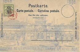 SUISSE -  GENEVE -  SOUVENIR DE L EXPOSITION NATIONALE GENEVE 1896- VOIR VERSO - GE Geneva
