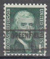 USA Precancel Vorausentwertung Preo, Locals Illinois, Greenfield 841 - Vereinigte Staaten