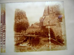 27 EURE LERY Plaque De Verre Stéréo L'ancien Moulin Sur L'eure - Stereoscopio