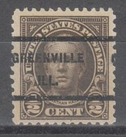 USA Precancel Vorausentwertung Preo, Locals Illinois, Greenville 551-236 - Vereinigte Staaten