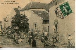 1059. CPA 70 SENONCOURT. PLACE DE LA GRANDE FONTAINE 1908 - Frankreich