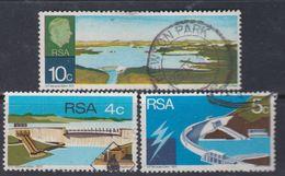 Afrique Du Sud N° 332 / 34  O  Inauguration Du Barrage H-F. Verwoerd  Les 3 Valeurs Oblitérations Moyennes Sinon TB - Afrique Du Sud (1961-...)