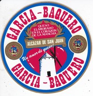 ETIQUETA ADHESIVO DEL QUESO GARCIA BAQUERO (MOLINO-MILL-MOULIN) - Quesos
