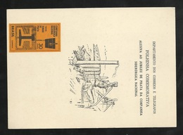 FDC Brésil Feuillet Maxi Commémoratif  Illustré  Le 22/05/1966 Gravure N°795 Anniversaire De La Cie Nat. Sidérurgie B/TB - Cartas