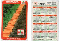 Calendrier 1993 - Météor HF 1 - P.S. Petoseed France - Les Taillades - Cavaillon (Vse)  (112717) - Petit Format : 1991-00
