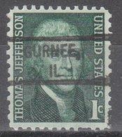 USA Precancel Vorausentwertung Preo, Locals Illinois, Gurnee 828 - Vereinigte Staaten