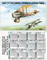 Calendrier 1997 - Bureau Armée De L' Air Information De Nice - Aout 1917 En Flandres - Vict. Du Cap. Fonck  (112718) - Petit Format : 1991-00