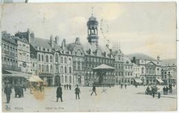 Mons 1907; Hôtel De Ville - Voyagé. (Nels - Bruxelles) - Mons