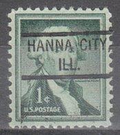 USA Precancel Vorausentwertung Preo, Locals Illinois, Hanna City 804 - Vereinigte Staaten