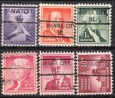 USA Precancel Vorausentwertung Preo, Locals Illinois, Hanna City 804, 6 Diff. - Vereinigte Staaten