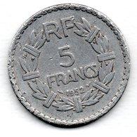5 Francs 1952   -  état  TB - France