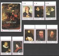 O080 GHANA ART PAINTINGS RUBENS #1457-66 1BL+1SET MNH - Rubens