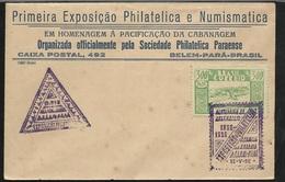 FDC Brésil Lettre Belem 13/05/1936 Le N°304 Ville De Cameta Exposition Hommage à La Pacification Du Cabanagem  B/TB - Covers & Documents