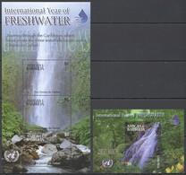 O085 ANTIGUA & BARBUDA NATURE WATERFALL YEAR OF FRESHWATER UNO #3960-62 !!! MICHEL 11 EURO !!! 1KB+1BL MNH - Nature