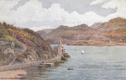Postcard The Estuary Barmouth By AR Quinton PU 1949 [ Salmon ] My Ref  B13004 - Quinton, AR