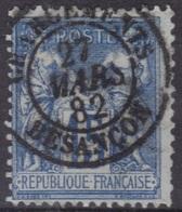 """Besançon """"Chargements"""" (Doubs) : Cachet à Date Type 15 Sur Sage. - 1877-1920: Période Semi Moderne"""