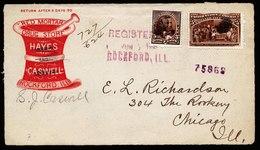 A6094) US Werbebriefvorderseite Rockford 03.06.93 M. 5 C Columbus - 1847-99 Unionsausgaben