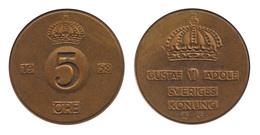 Sweden / 1952 / 5 Ore / Km: 822 / VF - Suède