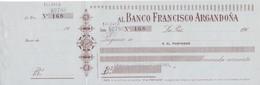 TALON - BILLETE DE BOLIVIA DEL BANCO FRANCISCO ARGANDOÑA  DEL AÑO 190_ (MUY RARO) - Bolivia