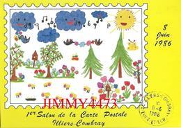 CPM - ILLIERS COMBRAY 28 Eure Et Loir - 1er SALON DE LA CARTE POSTALE Juin 1986 - Dessin Hélène B. - Bourses & Salons De Collections