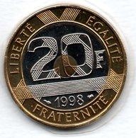 20 Francs 1998     -  état  FDC - L. 20 Francs