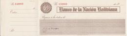 TALON - BILLETE DE BOLIVIA DEL BANCO DE LA NACION BOLIVIANA NUMERADO (MUY RARO) - Bolivia