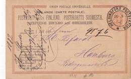 FINLANDE 1882   ENTIER POSTAL/GANZSACHE/POSTAL STATIONERY CARTE DE HELSINGFORS - Ganzsachen