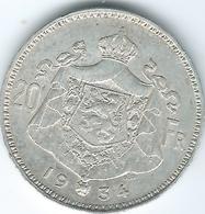 Belgium - Albert I - 1934 - 20 Francs - Dutch - KM104.1 - 1909-1934: Albert I